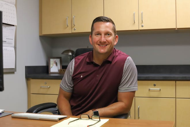 Buhler athletic director Justin Seuser was awarded the 2020 Kansas Interscholastic Athletic Administrators Association promising AD award for his work as an athletic director.