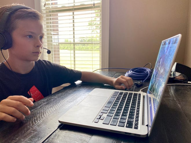 London Cornwell prepares to compete in the 2021 Scripps National Spelling Bee.