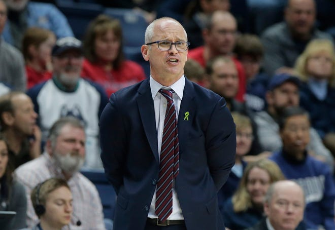 Connecticut head coach Dan Hurley had a live meeting with reporters for the first time in 15 months on Friday.