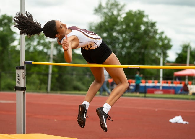 Priscilla de Carvalho won the Class A high jump competition, helping Algonquin capture the team title.