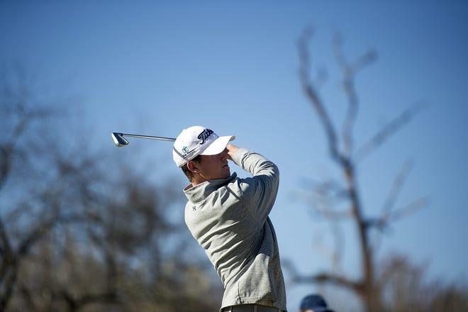 Matthew Sharpstene in action during his senior year on the Roberson golf team. This week, Sharpstene will compete in the U.S. Open.