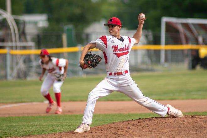 Marshall's Isaac Stetler is a member of the 2021 Battle Creek Enquirer All-Area Baseball Team.