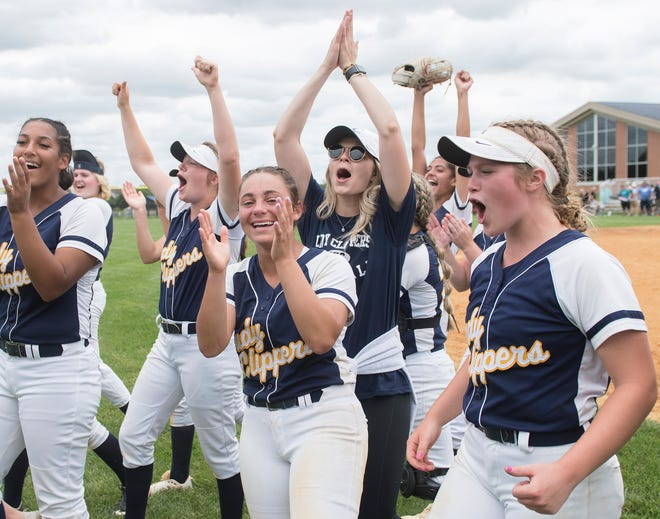 Clayton hosted Gloucester in the South Jersey Group 1 softball final on Saturday, June 12, 2021.  Clayton defeated Gloucester, 3-0.