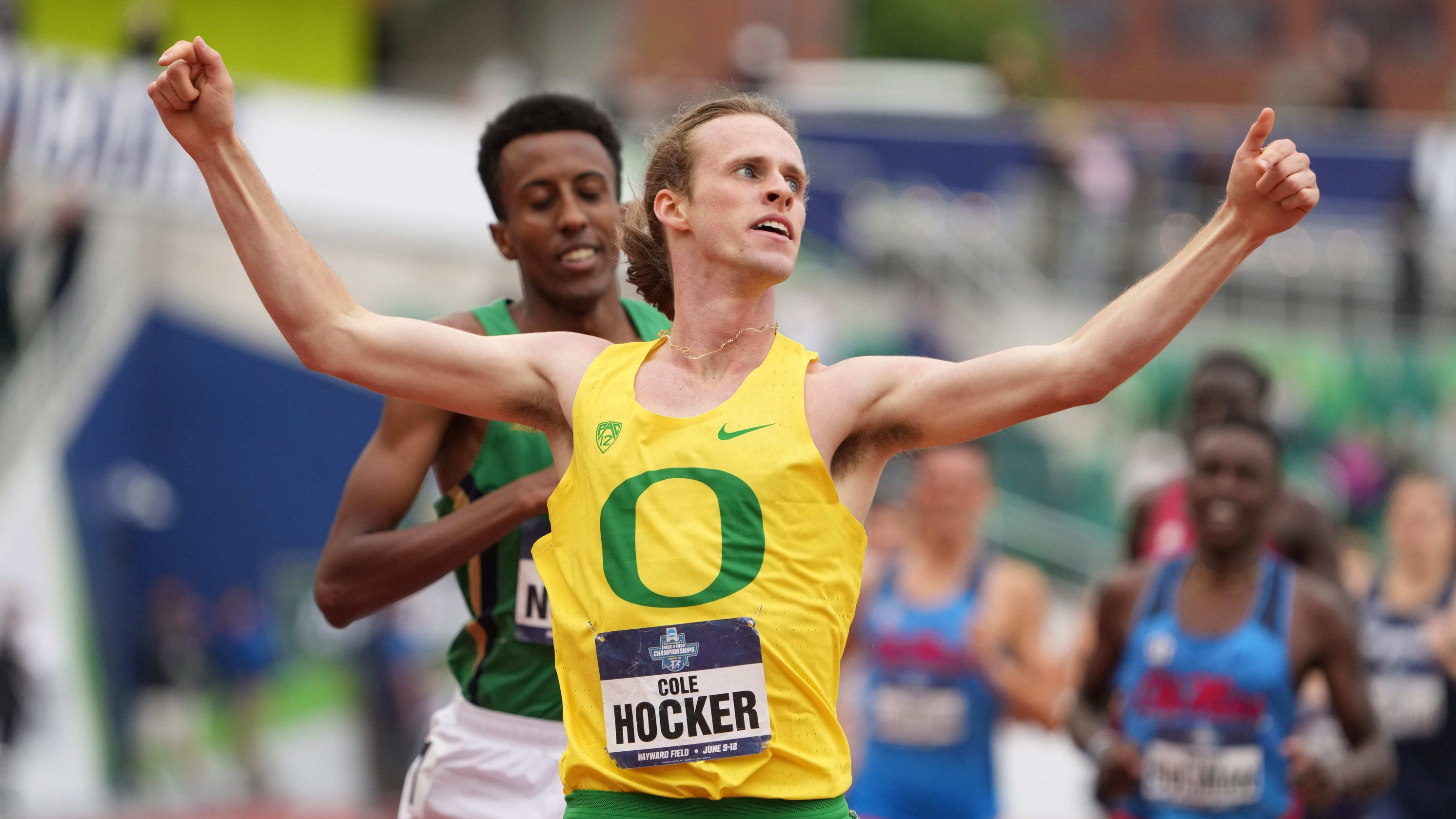 Cathedral's Cole Hocker wins third NCAA title of year, taking 1,500 over ND's Yared Nuguse