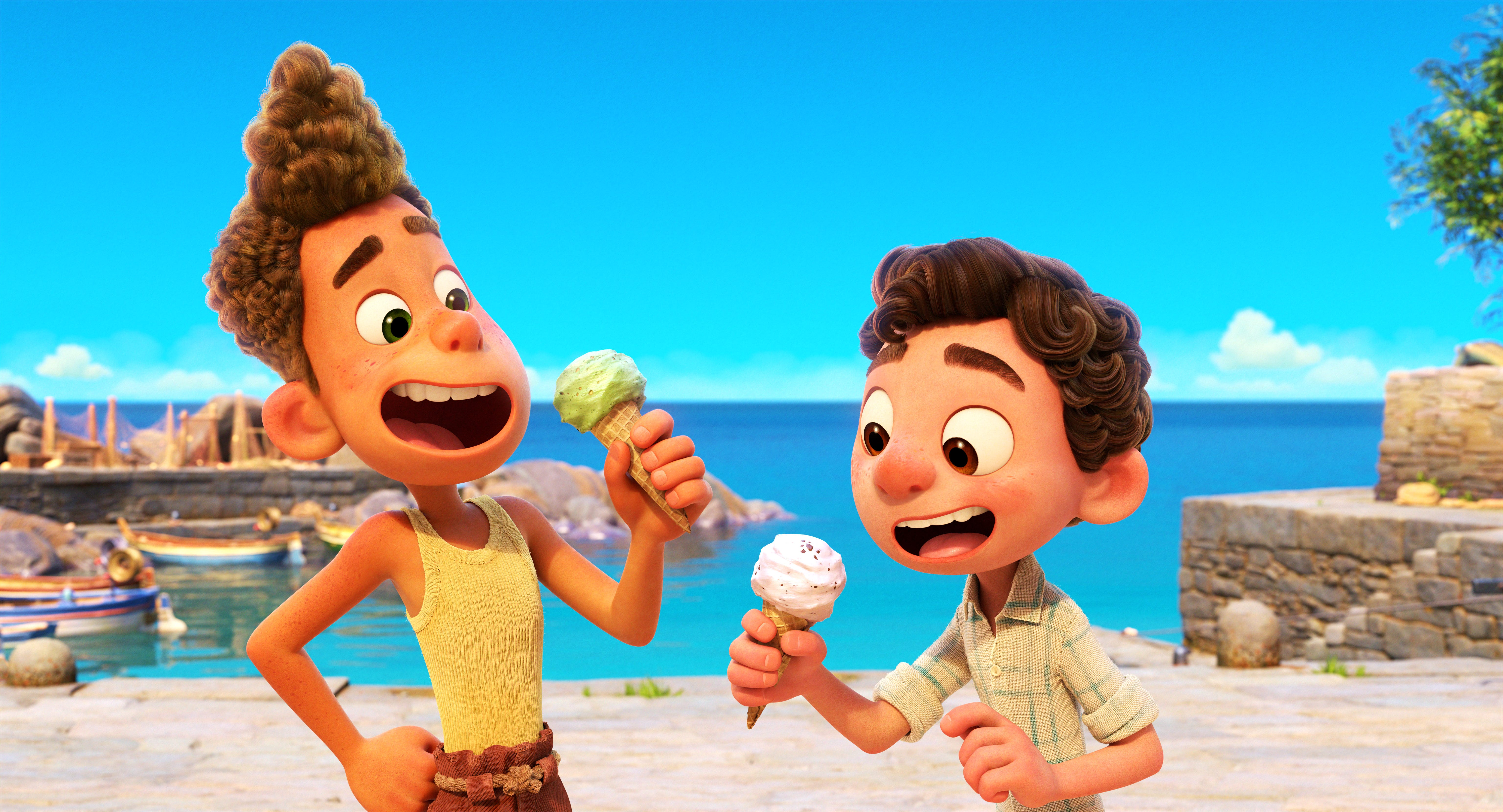 How Pixar explores ideas of friendship and inclusion in  Luca,  a gorgeous, fun kids movie