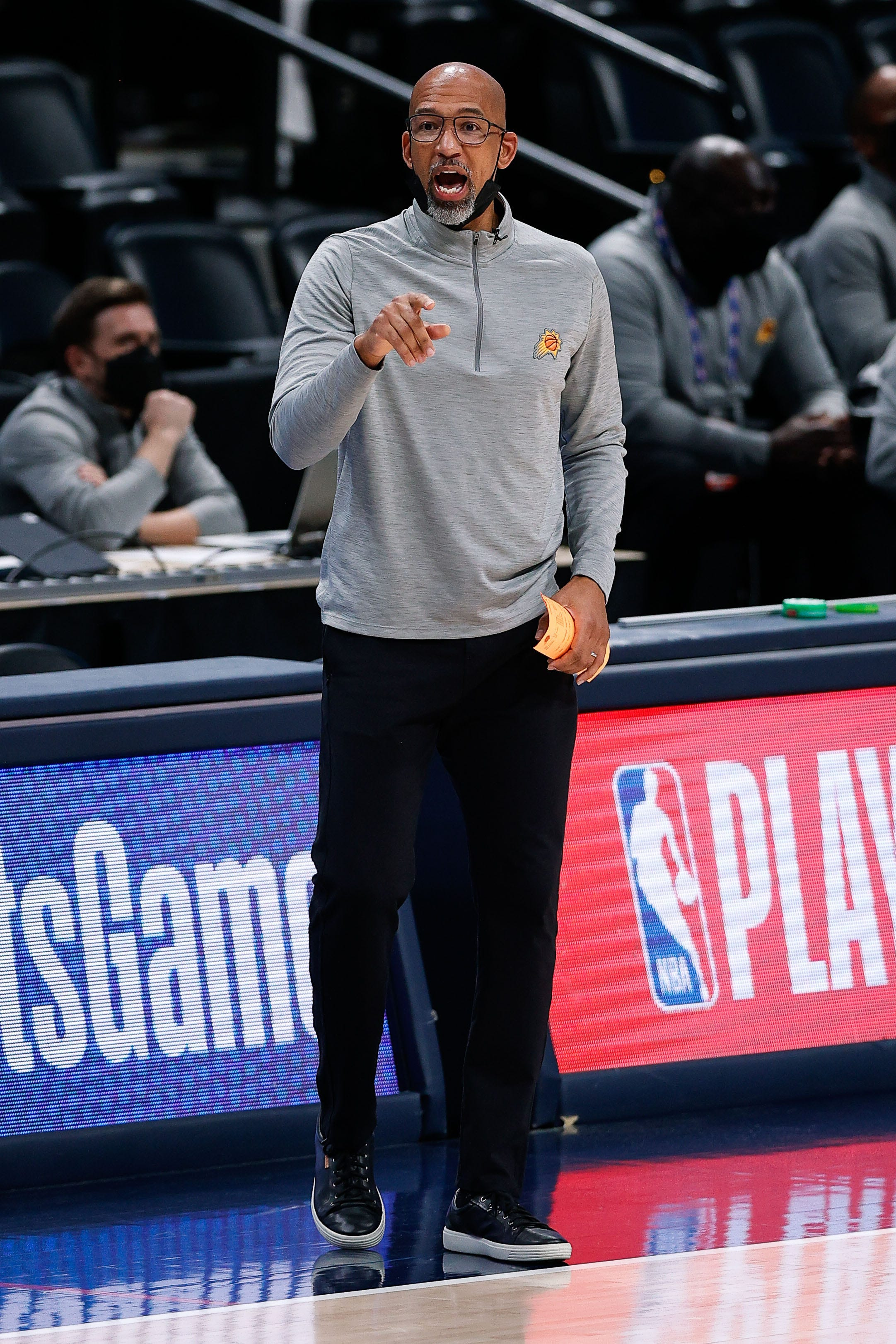 Phoenix Suns head coach Monty Williams, on how his team wasn't fazed by Nuggets' pregame ceremony