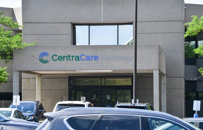 The main entrance to the CentraCare Northway Clinic is pictured Friday, June 11,  2021, in St. Cloud.