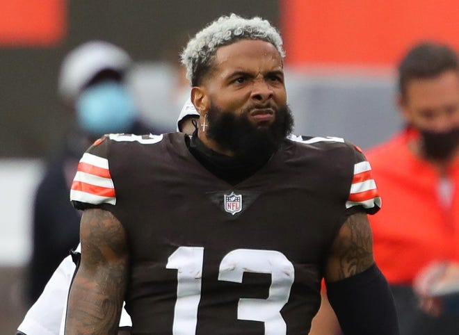Browns wide receiver Odell Beckham Jr. is scheduled to appear in camp this week after 2020 knee surgery.