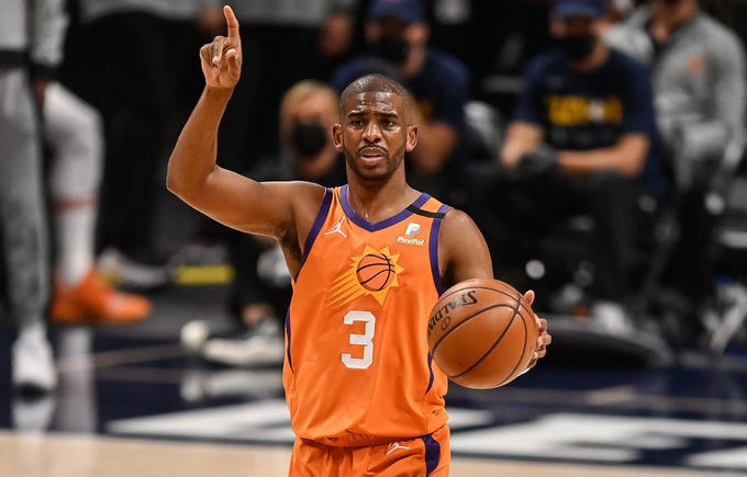 Chris Paul has 34 assists to just three turnovers in the series against the Nuggets.