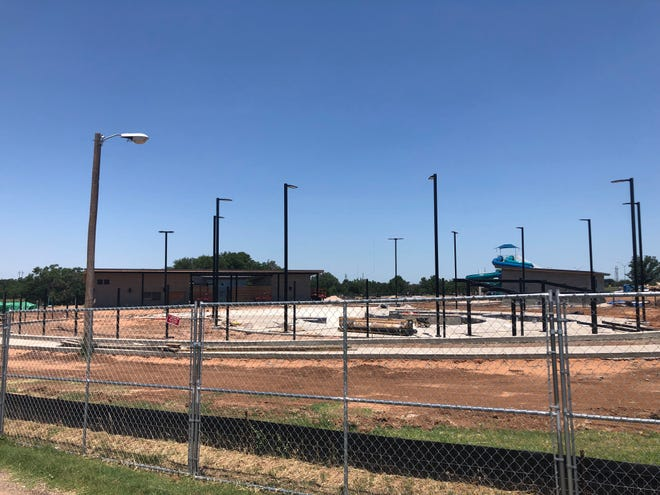 City officials recently presented numerous boards with an update surrounding the progress on the Thompson Park Aquatic Facility, which city officials expect to open to the public the first weekend of July.