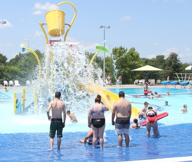 """The Boonville Lions Park Aquatic Center has been busy for the first two weeks of the summer season. Boonville Lions Park Aquatic Center Manager Skyler Blumhorst said 400-500 people came out on opening day to enjoy the pool. However, on the second weekend after opening day, Blumhorst said 900 people attended. """"We're averaging 450 people per day,""""Blumhorst said. The pool is open seven days a week from 1-8 p.m. Pool parties and swimming lessons are also available."""