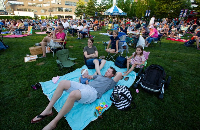 The Anderson family of Dublin – Dallin, Grace, 10 months, Whitney, Kate, 8, and Emma, 6 – attend the Columbus Symphony Orchestra's Picnic with Pops at John F. Wolfe Columbus Commons in June. With concerts, shows and events returning, so is The Dispatch Weekender section.