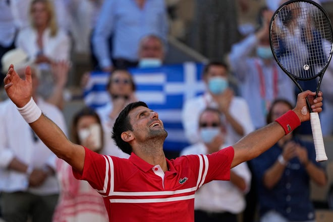 With Sunday's French Open victory, Novak Djokovic is one of only three men — alongside Rod Laver and Roy Emerson — to have won each major tournament at least twice.