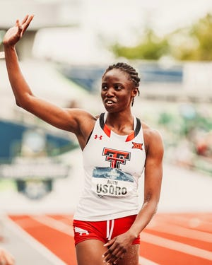 Texas Tech track and field standout Ruth Usoro won three Big 12 and two NCAA titles this year in the horizontal jumps. Usoro will now turn her attention to making the Nigerian Olympic team at her home country's trials this week.