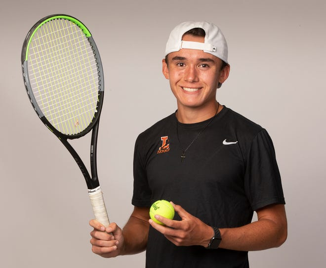 Lakeland junior Sam Reeder emerged as the top boys tennis player in the county this past season.