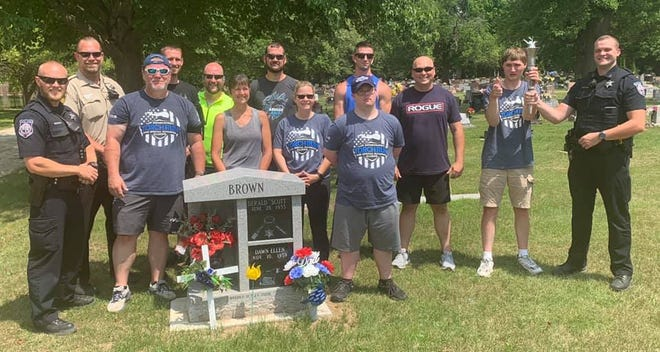 Law Enforcement Torch Run for Special Olympics was in Logan County Saturday with representatives from the Illinois State Police, Illinois Department of Corrections, Lincoln Police Department and Logan County Sheriff's Office completing the leg from Elkhart to Lincoln. Logan County Law Enforcement paid tribute to the late Scott Brown who always participated in the run.