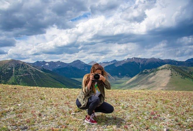 Cyndi Dawn, shooting scenic landscapes In Idaho.