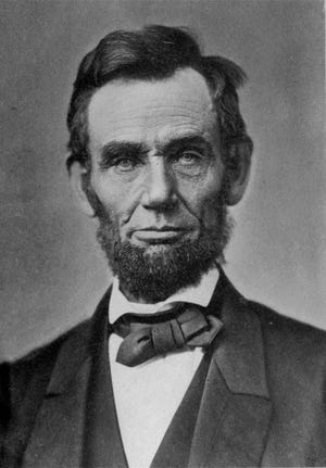 A portrait of President Abraham Lincoln in 1863.