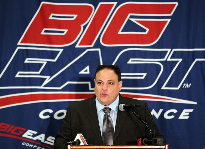 Big East commissioner John Marinatto speaks to reporters during media day in 2011.