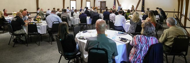 A large crowd was on hand to listen to the Governor speak at the Fireside Chat.