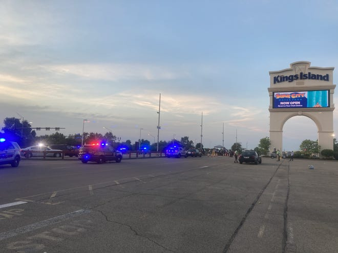 """Mason police and Kings Island security responded to a report of """"unruly juvenile behavior"""" on Saturday, according to park officials."""