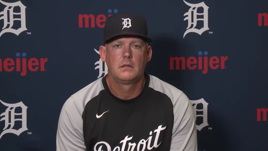 Detroit Tigers manager AJ Hinch explains pitching plans for Sunday after 15-2 loss