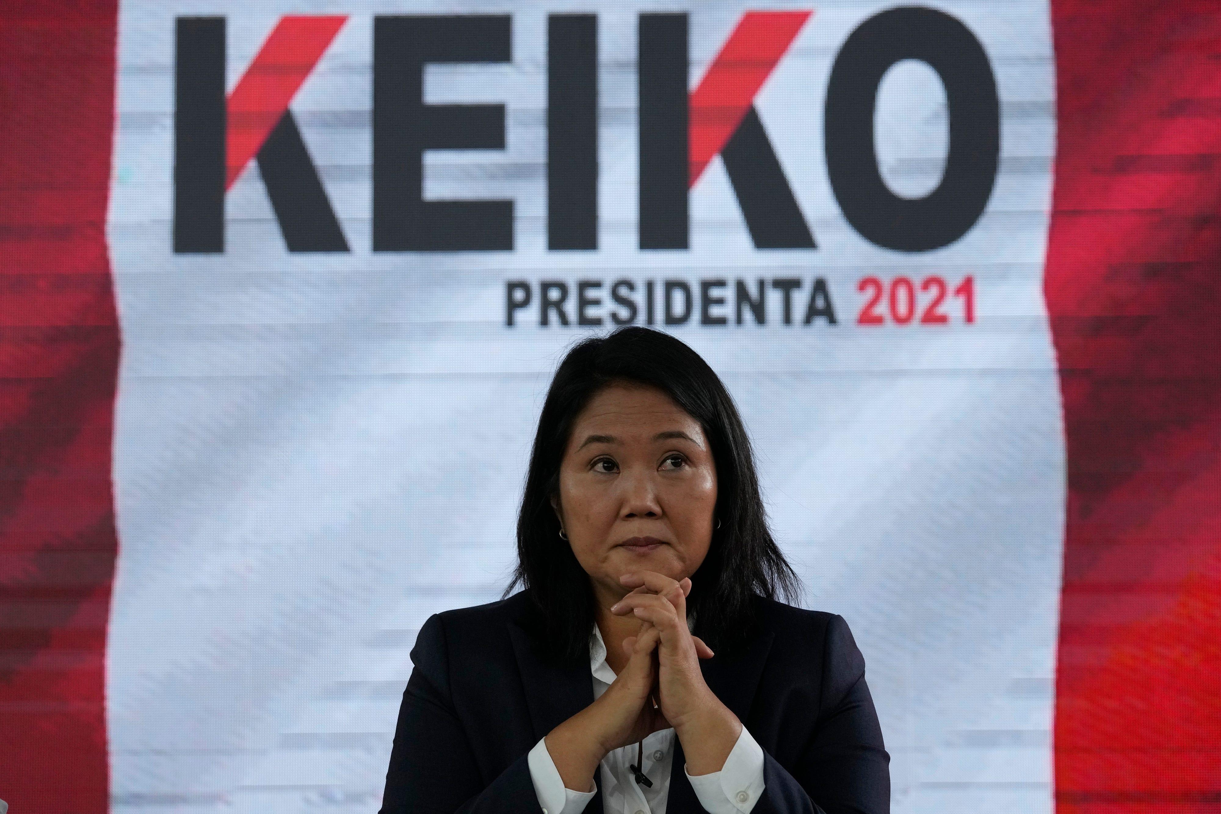 Peru's Fujimori repeats election fraud claim, trusts no jail 2