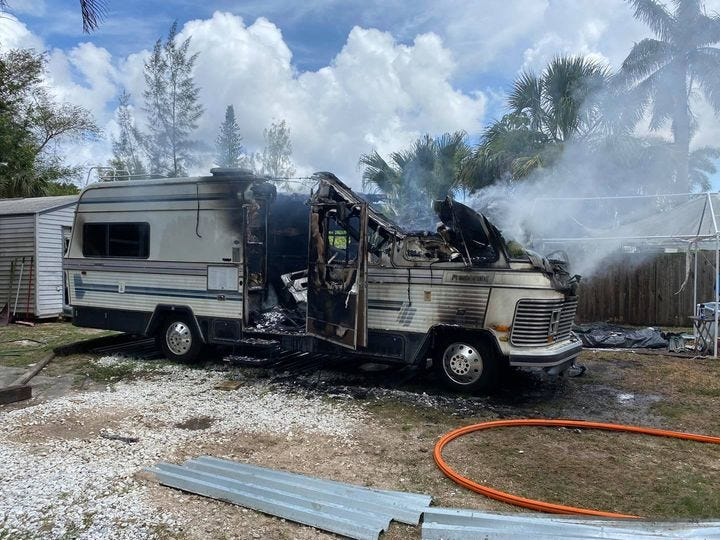 Nearby Matlacha/Pine Island fire station helps keep RV fire from spreading to structures
