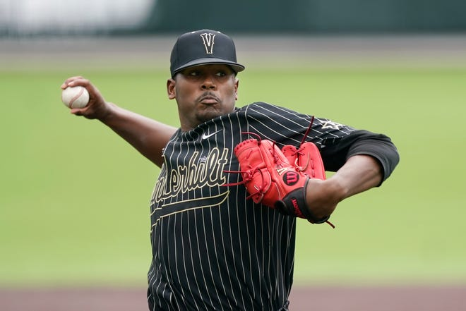 Vanderbilt's Kumar Rocker could very well be a target for the Kansas City Royals, who have the No. 7 pick in this year MLB Amateur Draft, which begins Sunday. The Royals have needs all over the field and hitting in the draft is imperative.