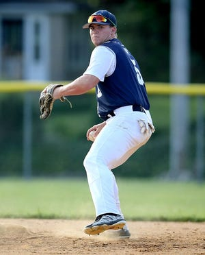 Austin Denlinger, seen here in a file photo, enjoyed a big day at the plate on Saturday for East Prospect in a pair of Pistons victories.