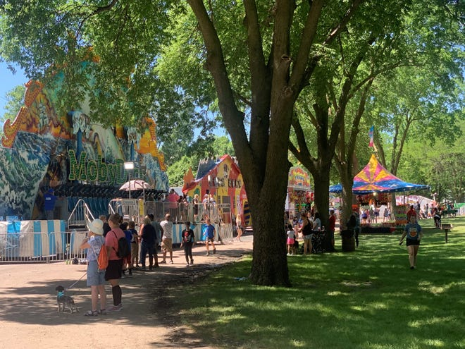 People fill Dell Rapids City Park for Cootie Days on Saturday, June 12, 2021.
