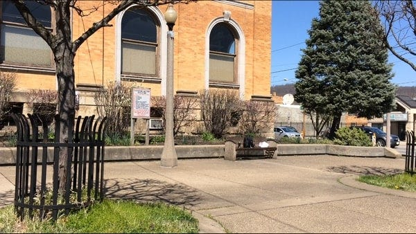 A project is underway to renovate the park next to the Carnegie Free Library of Beaver Falls.