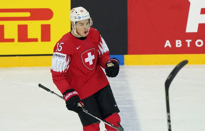 Gregory Hofmann's rights were traded by Carolina to Columbus on Feb. 13 for a 2022 seventh-round draft pick.