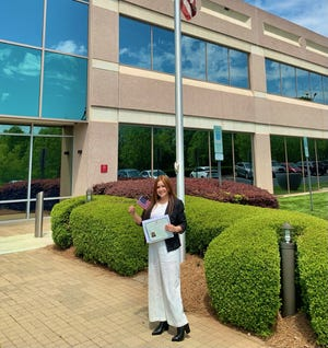 Lambeth, a Columbia native, took the opportunity to earn her citizenship through Randolph Community College.