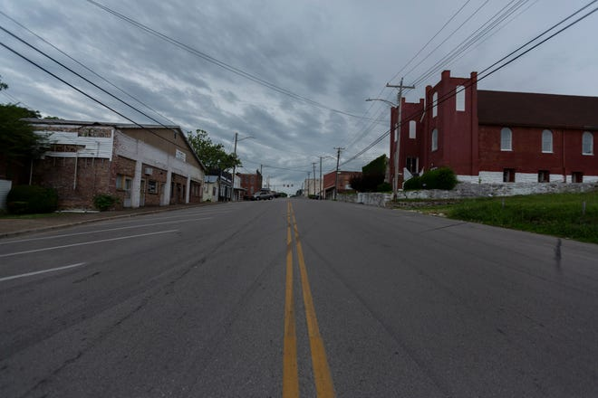 East 8th Street is quiet in Columbia, Tenn., on Tuesday, June 11, 2021.