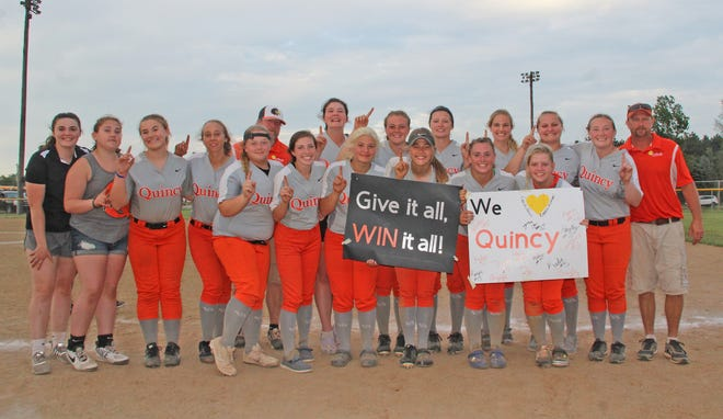 The Quincy Orioles, shown here after claiming the outright Big 8 conference crown, saw their tremendous 2021 season come to an end Saturday with a loss to Leslie in the D3 Regional Semifinals