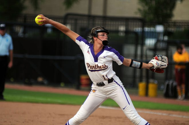 University of Northern Iowa freshman pitcher Hailey Sanders went 2-3 with a 6.86 ERA and helped the Panthers advance to the NCAA regionals.