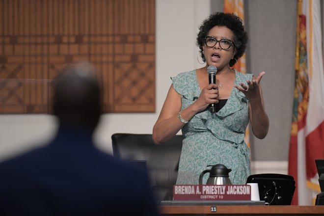 District 10 City Council member Brenda Priestly Jackson plans to run for an at-large council seat in 2023, turning District 10 into a wide-open race.