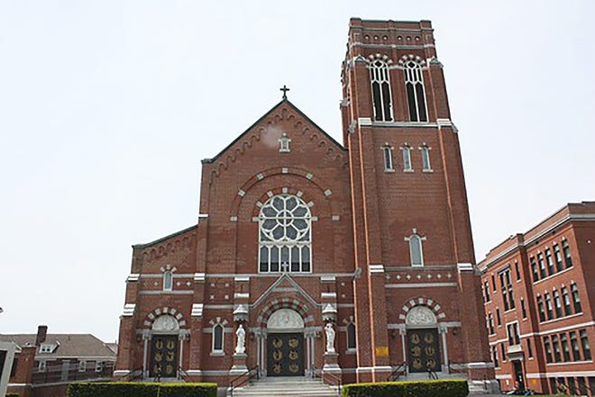 Holy Rosary Church, part of Annunciation Parish, is pictured today in Gardner.