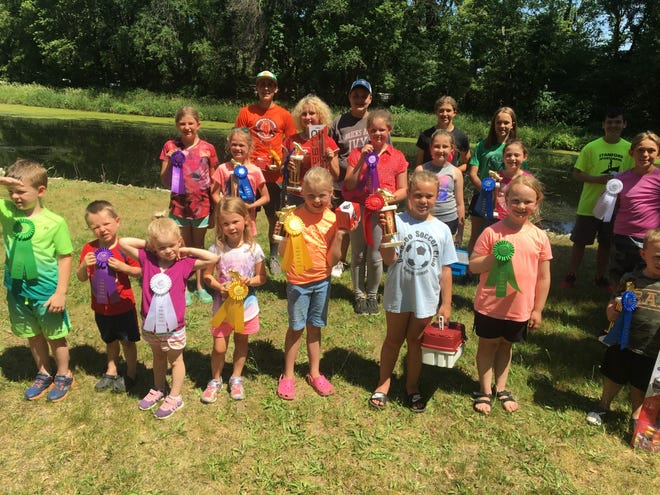 """These are the winners of the Geneseo Ikes """"Youth Fishing Derby""""                    held on Saturday, June 12th, at the Ikes Park."""