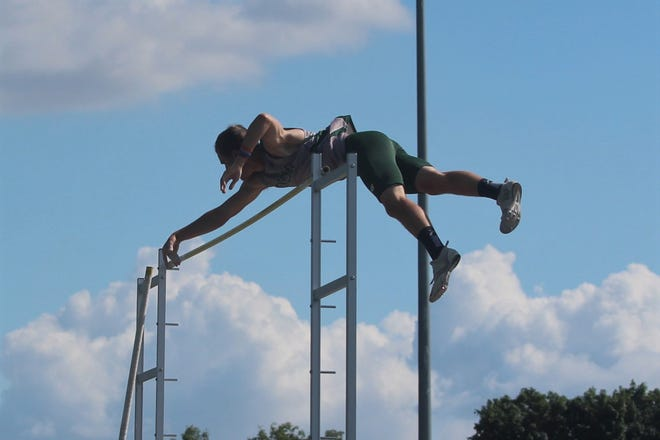 Geneseo's Malaklai Schaad placed first at the IHSA 2A Sectional with his vault of 15-feet, 1-inch, to advance to the IHSA State Track Meet.