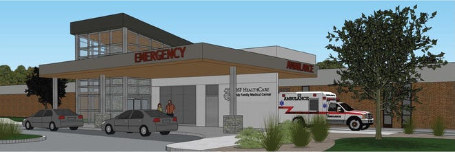 A $5.5 million project to redesign the emergency department at OSF Holy Family Medical Center is underway in Monmouth. The redesigned entrance and ambulance bay with private entrance are pictured here.