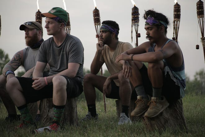 Adam Crotzer, Kyle Mitchell, Da'Vontae Randolph and Dung 'Boogie' Tran met at Team Council to talk about who they were going to vote off during Surviving Bloomington in 2020.