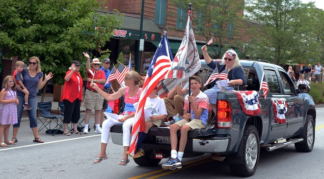 Fourth of July parade in downtown Hendersonville on July 4, 2017. The 2021 Independence Day Celebration Parade will be held Saturday, July 3 on Main Street at 10:30 a.m.