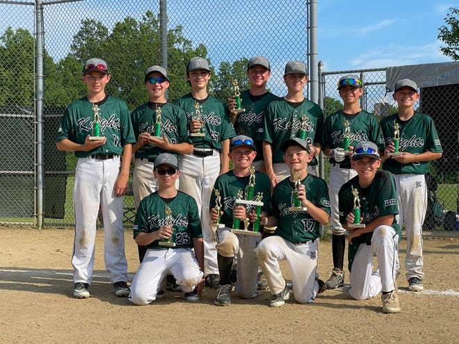 The Nordonia 12U Knights won the 7th annual Nordonia Knights Baseball Bash Tournament June 6. Team members include, front row, from left, Drew Roberts, Grant Lonczak, Jacob Griffith and Jojo Gaudio. Back row, from left, are Steven Fakult, Louie Papile, Kyle Nealon, Karson Fisher, Collin Atha, Nolan Shirk and Hayden Shumacher.