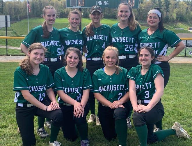 Senior members of the Wachusett Regional High School softball team.