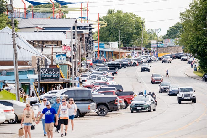 The Lake Ozark Strip is a popular hangout for locals and visitors.