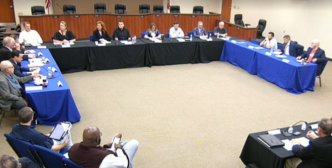 Members of the Midlothian ISD board of trustees and the Midlothian City Council hold a joint meeting on June 3 at the L.A. Mills Administration Building. The two elected bodies discussed ways in which they could collaborate further for the betterment of the community.
