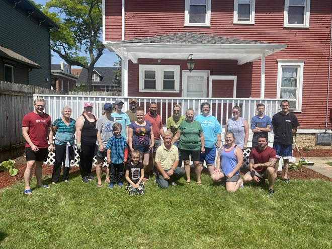 Volunteers from 2|42 Community Church worked at Selah's Center of Hope last Saturday. COURTESY PHOTOS