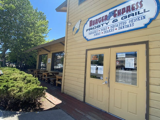 Burger Express in Mount Shasta is closed temporarily until owners Steve and Lori Mapes can find enough workers to round out their crew.